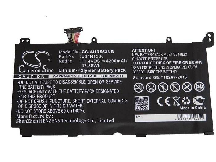 ASUS R533L R553LN K551L K551L K551LN V551L S551L S551LN B31N1336 (kompatibelt batteri)
