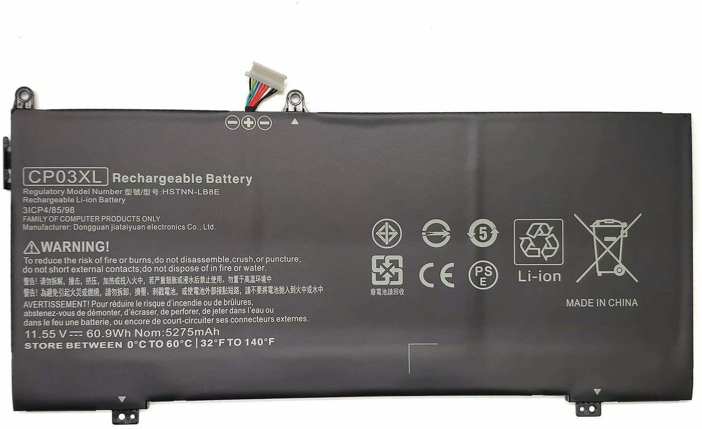 CP03XL TPN-Q195 HP Specter X360 13-AE000NC 13-AE000NE 13-AE000NF (kompatibelt batteri)